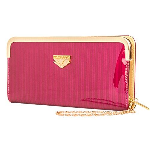 VanGoddy Zippy Women's Magenta Zippered Wallet Clutch