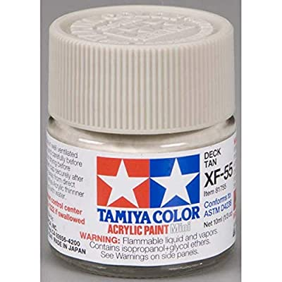 TAMIYA XF55 81755 Acrylic Mini XF55 Deck Tan 1/3 oz 10ml: Toys & Games
