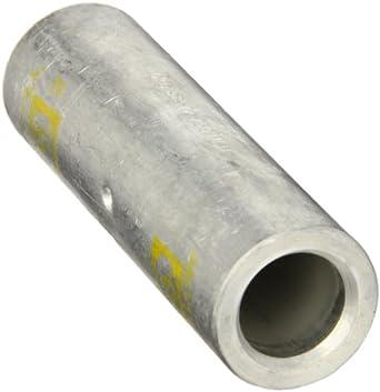 Morris Products 93238 Long Barrel Compression Splice, Aluminum, Yellow Color Code, 750mcm Wire Range
