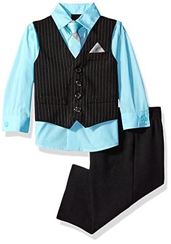 Van Heusen Baby Boys' Stripe Vest Set, Caicos Blue, 3/6M