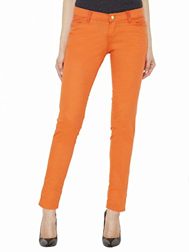 Apple Bottoms Junior Cut Women's Jeans- Orange - (Apple Bottoms Womens Clothing)