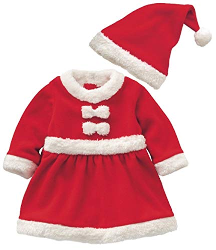Baby Boys Girls Santa Claus Suit Kids Christmas Halloween Costume Cosplay Set Size 6-12Months/Tag80 (Red2)