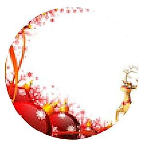 alfombrilla de ratón Papá Noel con su trineo - ronda - 20cm
