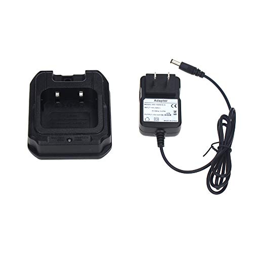 UV-9R Battery Charger Base with US Adapter 100-240V for Baofeng Walkie Talkie BF-A58 BF-9700 GT-3WP UV-82WP R760 UV-9R Plus Series(CHR-9700)