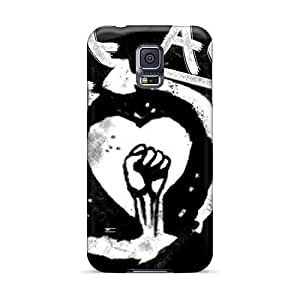 Shock Absorption Cell-phone Hard Covers For Samsung Galaxy S5 (tYa12493ARMd) Allow Personal Design Trendy Rise Against Pattern