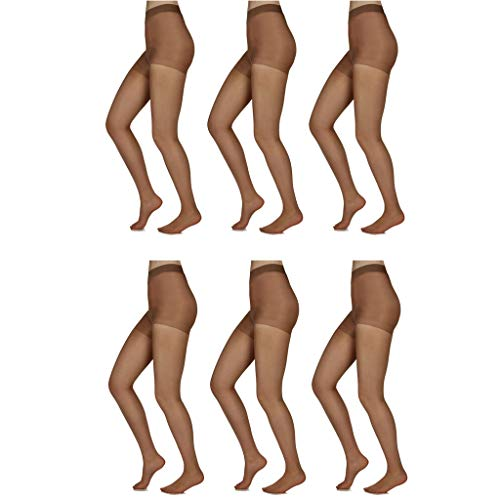 - Silky Toes 3 or 10 Pairs Control Top Sheer Pantyhose (Queen 2, Honey (6 Per Pack))