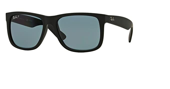 1dc9883aa4a Ray-Ban RB4165 JUSTIN 622/2V 55M Black Rubber/Dark Blue Polarized Sunglasses
