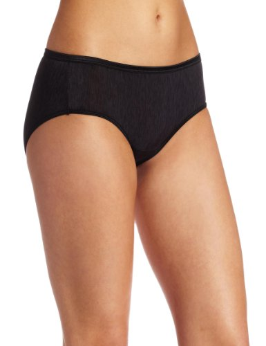 Vanity Fair Women's Illumination Hipster Panty 18107, Midnight Black, Large/7