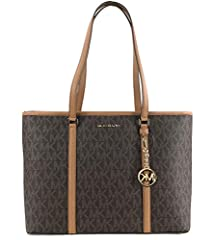 """Size Approximate Measurements: 17""""L X 12""""H X 6""""W Double Leather Handles Drop Approx. 10"""" Logo Lining, Zipper Closure Inside-1 large compartment, padded pocket (9.5""""X14"""" X2"""" ), 3 Slip pockets Outside- 1 back lip pocket, NO Dust Bag Included   ..."""