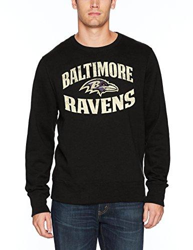 NFL Baltimore Ravens Men's OTS Fleece Crew, Distressed Marbleton, X-Large (Ravens Mens Apparel)