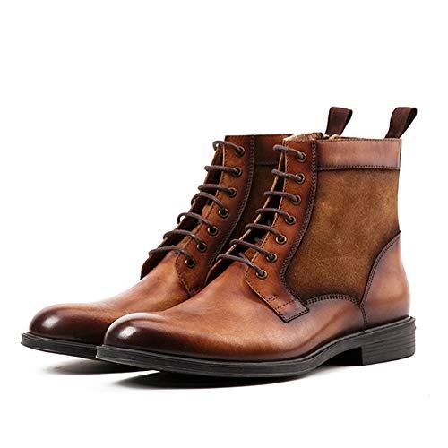 sicurezza marrone Stivali Stivali di Casual Classic da pelle Chelsea High Top uomo in Martin Scarpe xqPxf6S