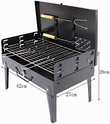 Barbecue HZY Grill Portable, Extérieur Jardin au Charbon, Terrasse Party de Cuisine Pliable Pique-Nique, 430 * 265 * 210mm