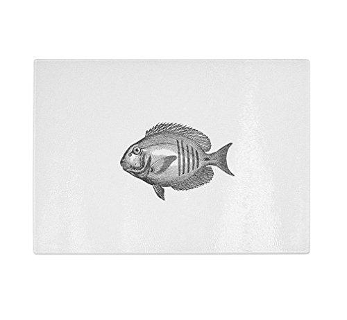 Style in Print Fish Vintage Look Kitchen Bar Glass Cuttin...