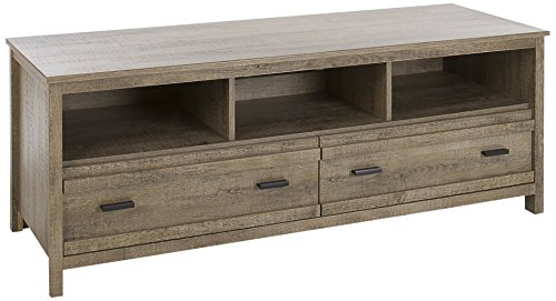 South Shore Exhibit TV Stand for TVs, Up to 60'', Weathered Oak -  10394