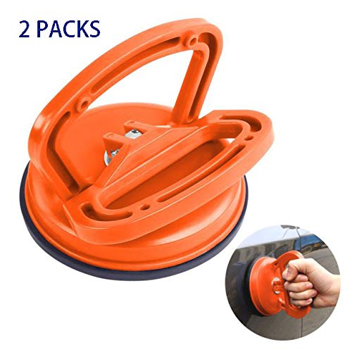 Car Dent Vacuum Suction Cup, 2 Pack, Glass Lifter with Handle 4.5' Puller for Glass/Tiles/Mirror/Granite Lifting, Dent Remover Gripper Sucker Plate