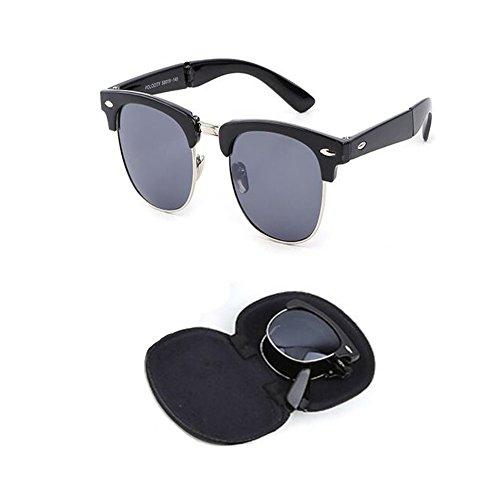 Anti Hzjundasi pour Portable Femme lunettes UV Lunettes de et soleil Des Mode Anti Classique Homme de Plier fatigue Charnière C2 Cadre soleil Rtero rx0OwRYqr