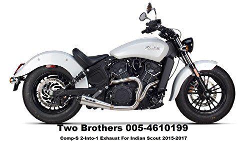 (17-19 INDIAN SCOUT: Two Brothers Comp-S Full System Exhaust (Stainless / 2 into 1))