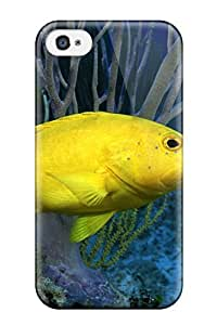 Hot Snap-on Bright Yellow Fish Hard Cover Case/ Protective Case For Iphone 4/4s