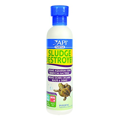 API TURTLE SLUDGE DESTROYER Aquarium Cleaner and Sludge Remover Treatment 8-Ounce Bottle