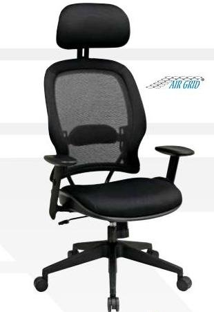 Air Grid Mesh Chair with Headrest PNo: 55403