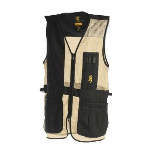 Browning, Trapper Creek Vest, Small, Black/Tan by Browning