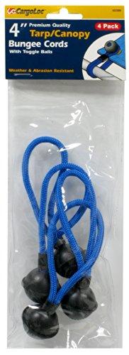 CargoLoc 62390 Tarp Cords, 4-Inch, Blue, 4-Piece