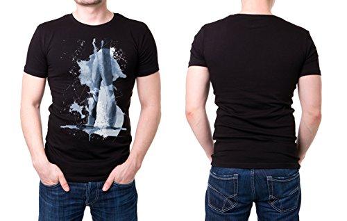 Ballett_I schwarzes modernes Herren T-Shirt mit stylischen Aufdruck