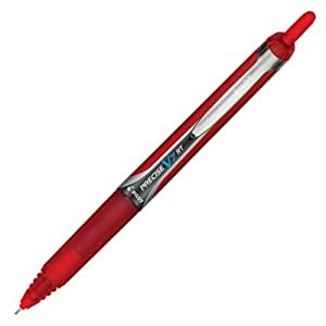 Pilot Precise V7 RT Retractable Rolling Ball Pens, Fine Point, Red Ink, Dozen Box (26069)