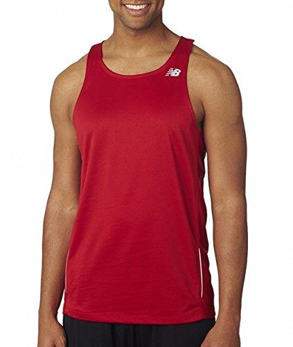 NB9138 New Balance Men's Running Singlet Sleeveless T-Shirt, Cherry Red , X-Large