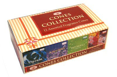 Darshan Incense Cone Collection - Assorted Fragrances - 12 Boxes of Incense Cones, 120 Cones Total - incensecentral.us