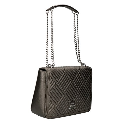 Love Moschino Shiny shoulder bag silver