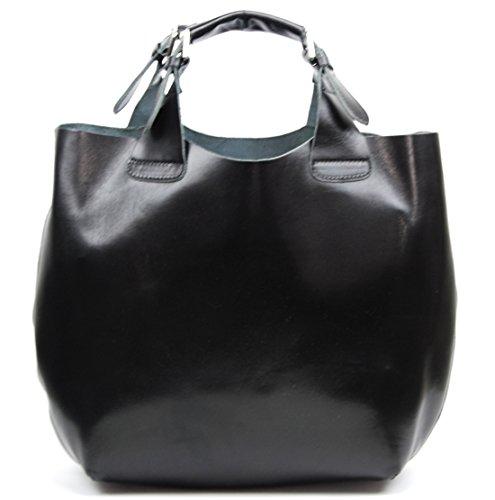 OH MY BAG Sac à Main CUIR végétal femme - Modèle Numéro 3 Noir