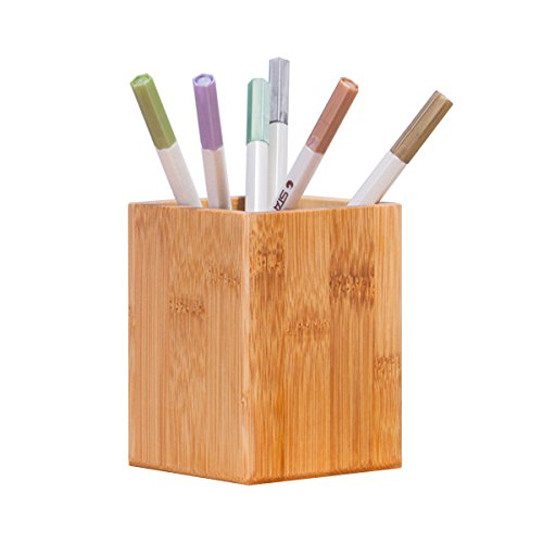 Tosnail Bamboo Pencil Holder Organizer