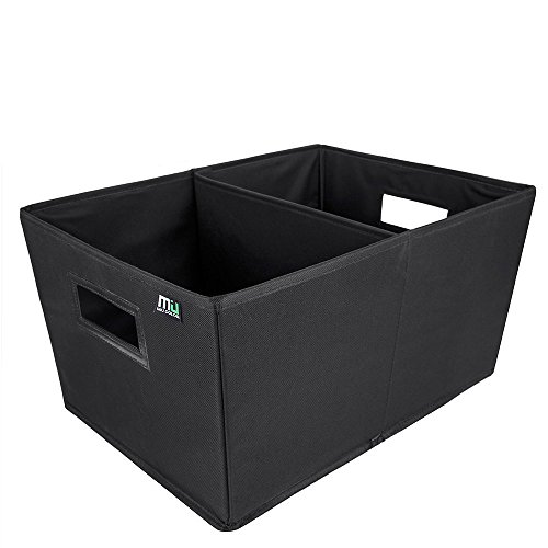 MIU COLOR Car Trunk Storage Organizer Collapsible Cargo Storage Containers for Car, Truck, SUV; Black