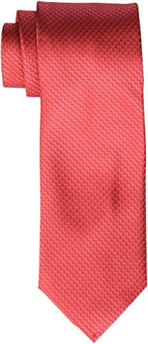 Geoffrey Beene Men's Big-Tall Endless Unsolid Solid Extra Long Tie, Red, One Size