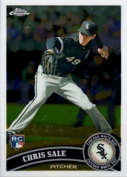 Baseball Chris Sale (2011 Topps Chrome Baseball #205 Chris Sale Rookie Card)