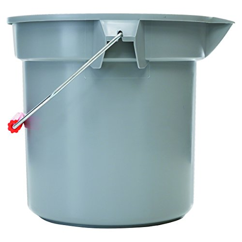 Round Bucket Utility - Rubbermaid Commercial 261400GY 14 Quart Round Utility Bucket, 12