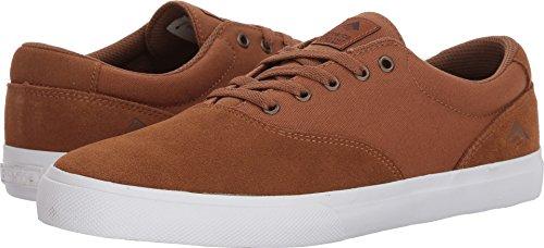 Emerica Provost Slim Vulc Skate Shoe,tan/White,5