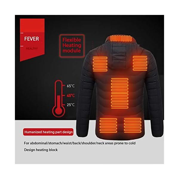 Veste Chauffante électrique, Homme et Femme Veste Chauffant USB Vêtements Chauffant électrique Hiver Chaud Léger Manteau…