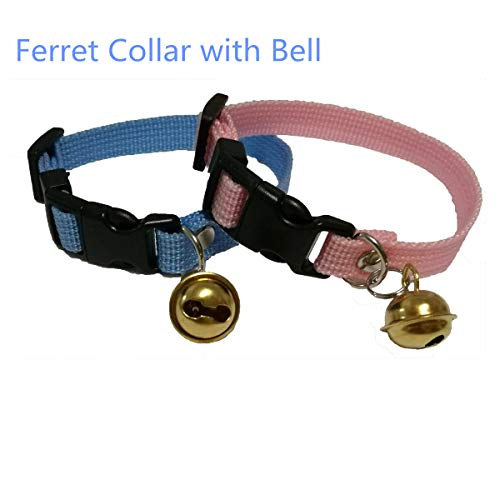 (Margelo Pet Classic Solid Color Ferret Collar with Bell -)