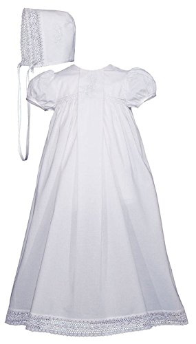 Girls Victorian Style Cotton Dress Christening Gown Baptism Dress (Heirloom Baptism Gowns)