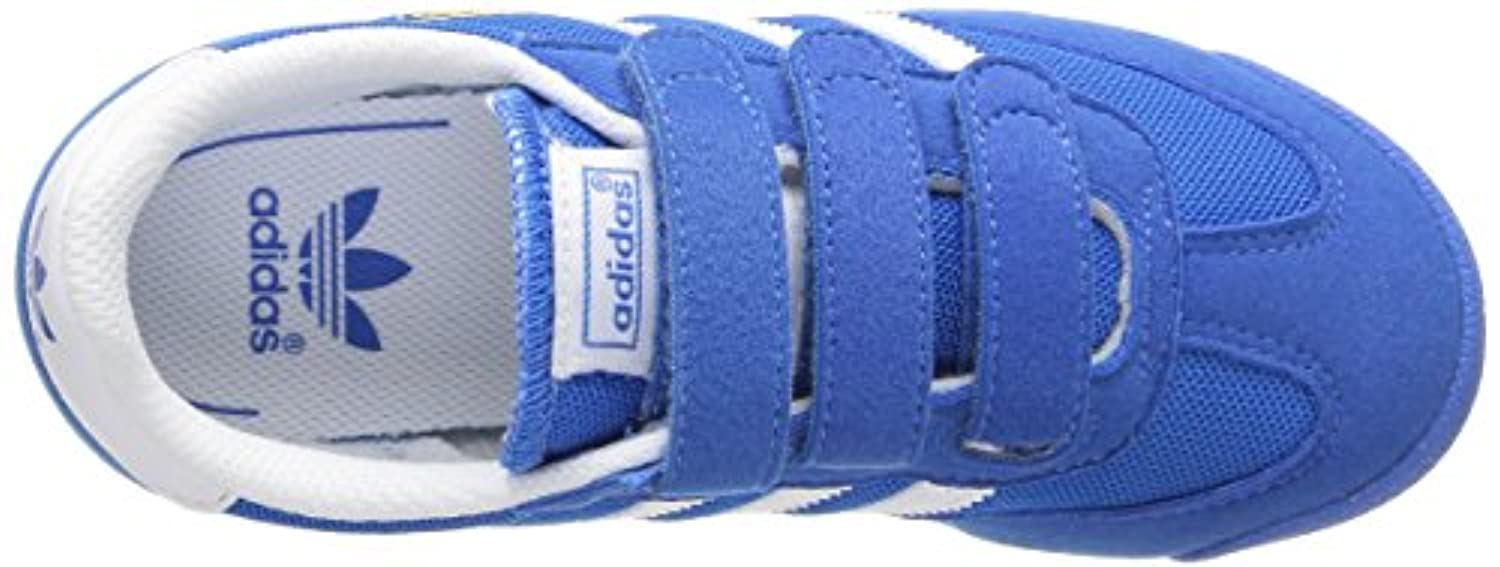 adidas Dragon CF, Unisex Kids' Trainers, Blue - Blau (Blubir/Runwht/Runw), 1 UK (33 EU)