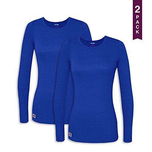 Sivvan 2 Pack Women's Comfort Long Sleeve T-Shirt / Underscrub Tee - S8500-2 - RYL - M