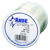 Ande A14-6C Premium Monofilament, 1/4-Pound Spool, 6-Pound Test, Clear Finish