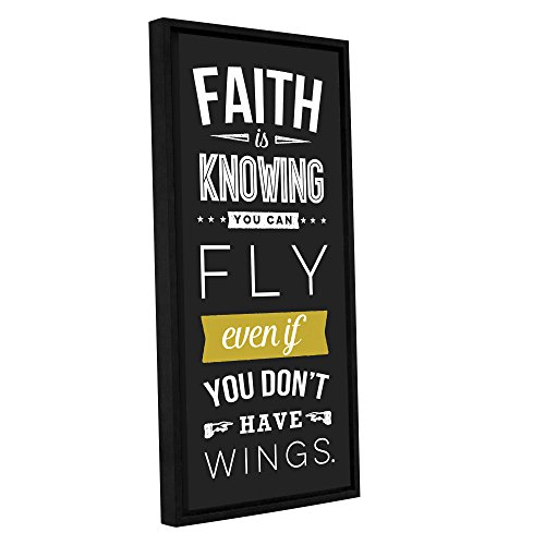 Aubree Perrenoud's Faith-Dark, Gallery Wrapped Floater-Framed canvas 18x36 by Art Wall