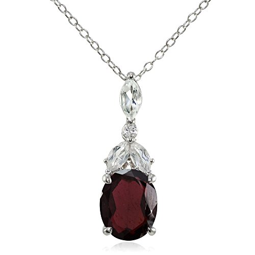 sterling-silver-garnet-and-white-topaz-oval-necklace