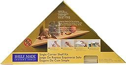 KV Kitchen & Bath Storage EZC 12/1 OK Oak Instant Corner Shelves Single Pack, 12\