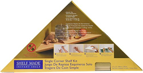 KV Kitchen & Bath Storage EZC 12/1 OK Oak Instant Corner Shelves Single Pack, - Instant Shelf Corner