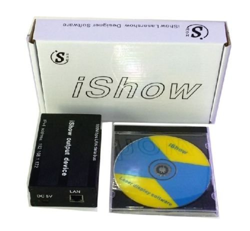iShow V3.0 Ethernet Stage Laser Light Software 64 bit and USB To ILDA Box from eHaiSong