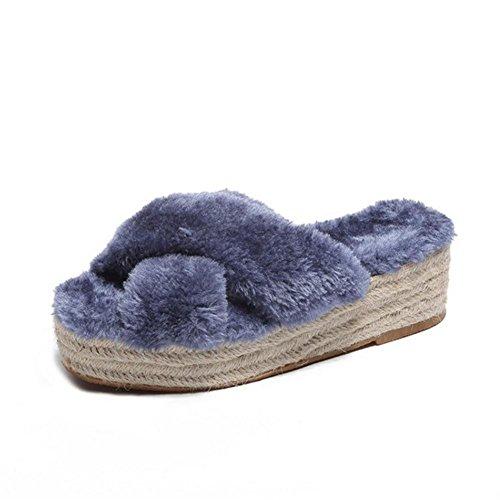 Spessore di peluche Bottom colore signore blue WANGXN peluche solido di Panno di delle Tessuto Pattini Pwp0qH8